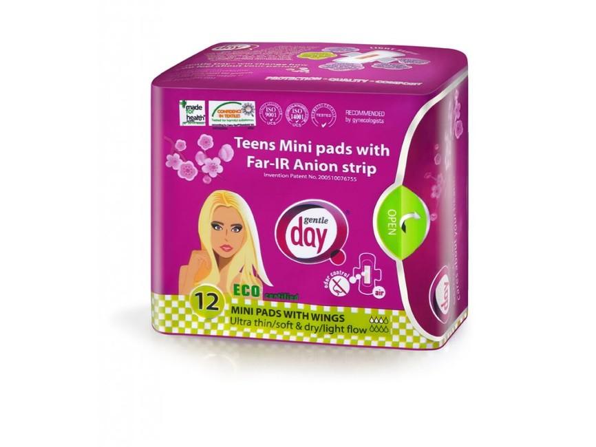 Teens MINI Gentle Day® ekologické aniontové vložky