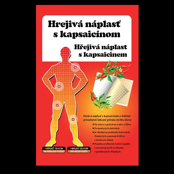 Hřejivá náplast kapsaicin 12x18 cm
