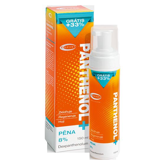 TOPVET PANTHENOL + PĚNA 8% 150ml 150 ml