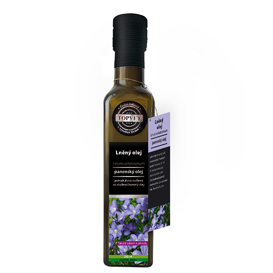 TOPVET Lněný olej 250ml 250 ml