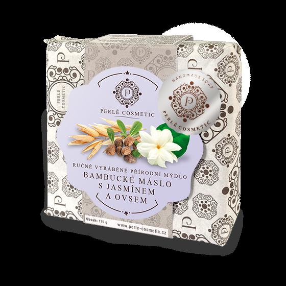 TOPVET Mýdlo Bambucké máslo s jasmínem a ovsem 115g 115 g