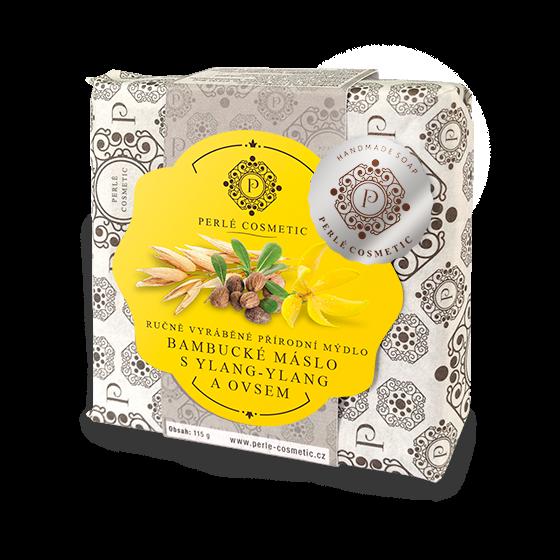TOPVET Mýdlo Bambucké máslo s ylang-ylang a ovsem 115g 115 g