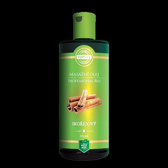 TOPVET BIO Skořicový masážní olej 200ml 200 ml