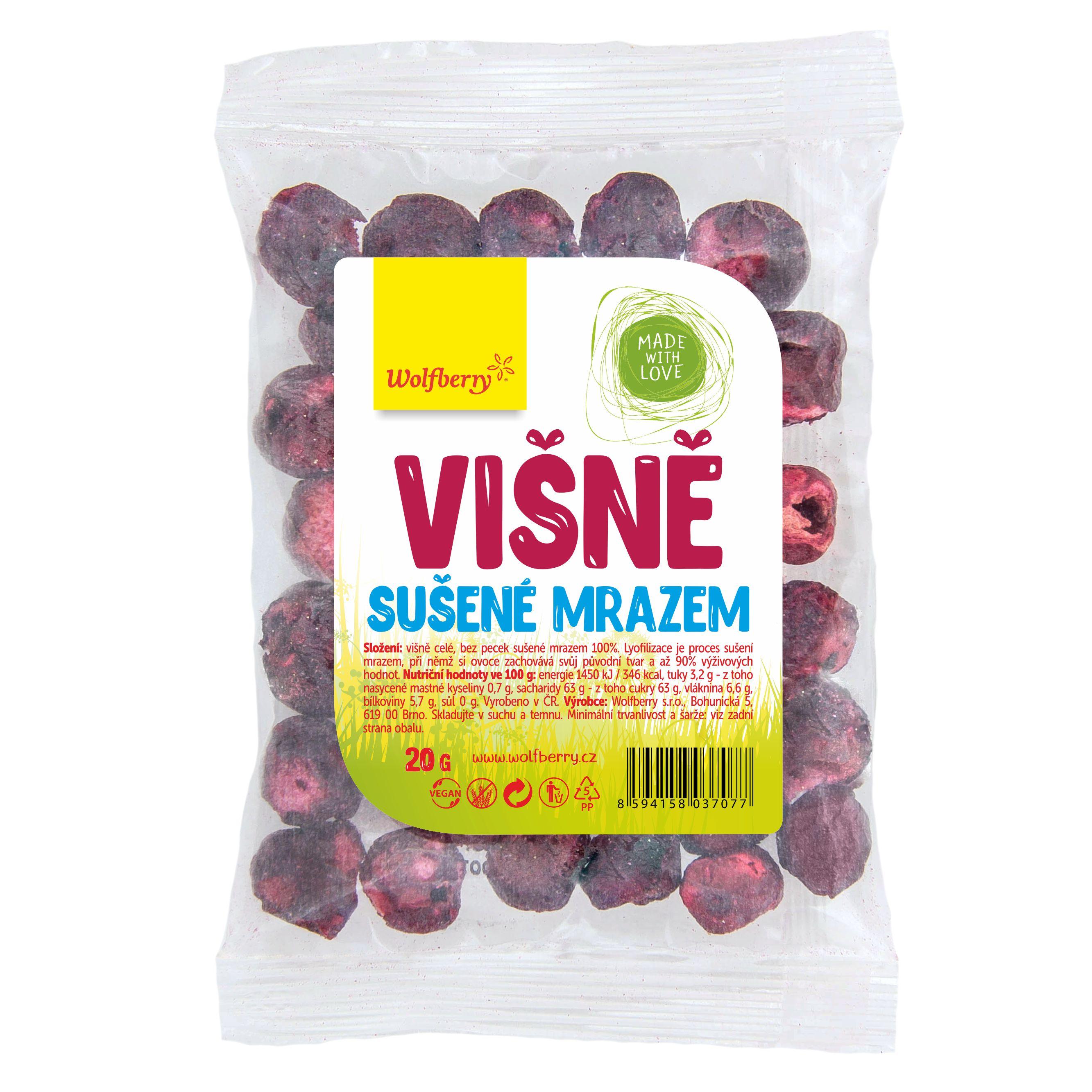 Wolfberry Višně sušené mrazem 20 g Wolfberry 20 g