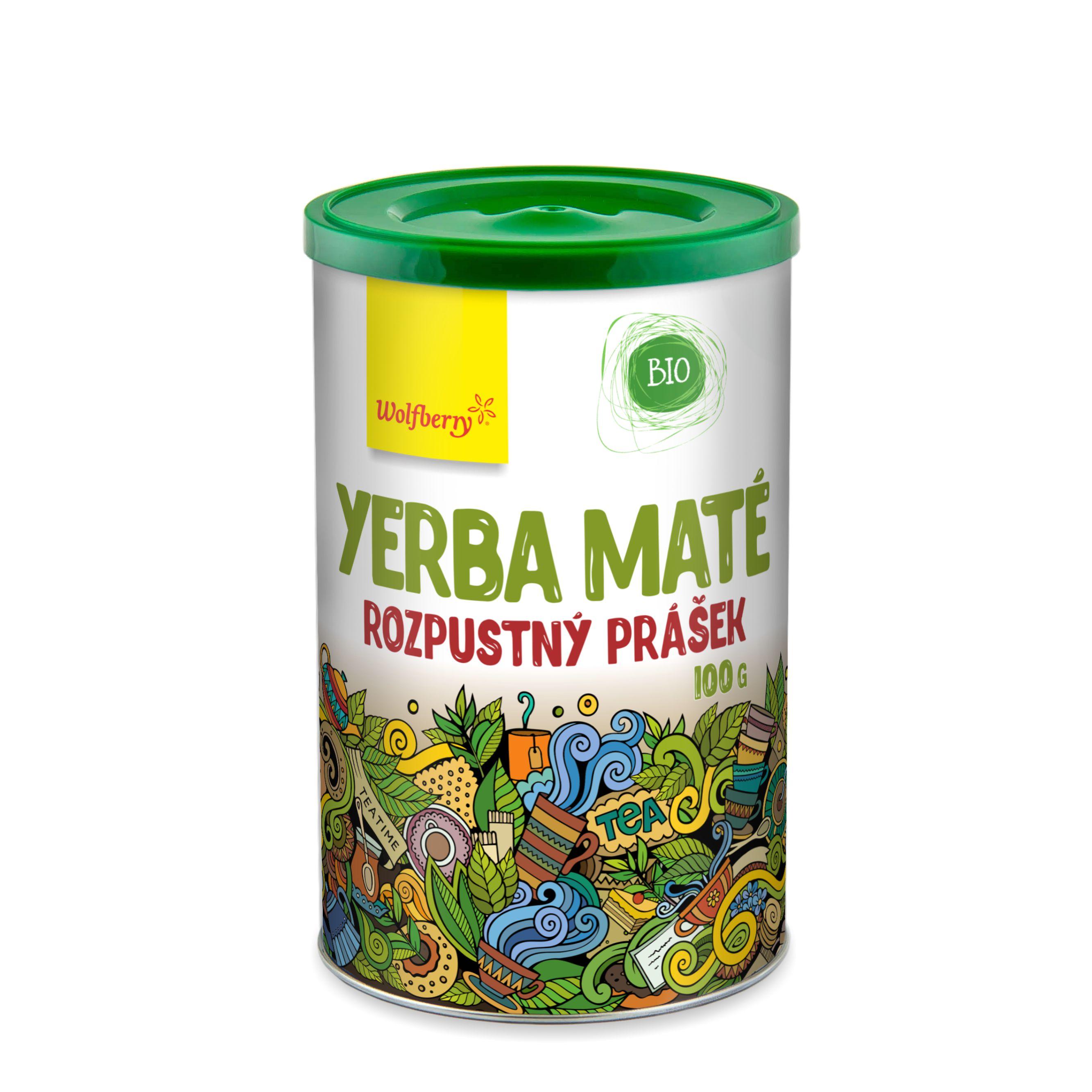 Wolfberry WF Zelený čaj Yerba maté prášek BIO 100 g Wolfberry 100 g