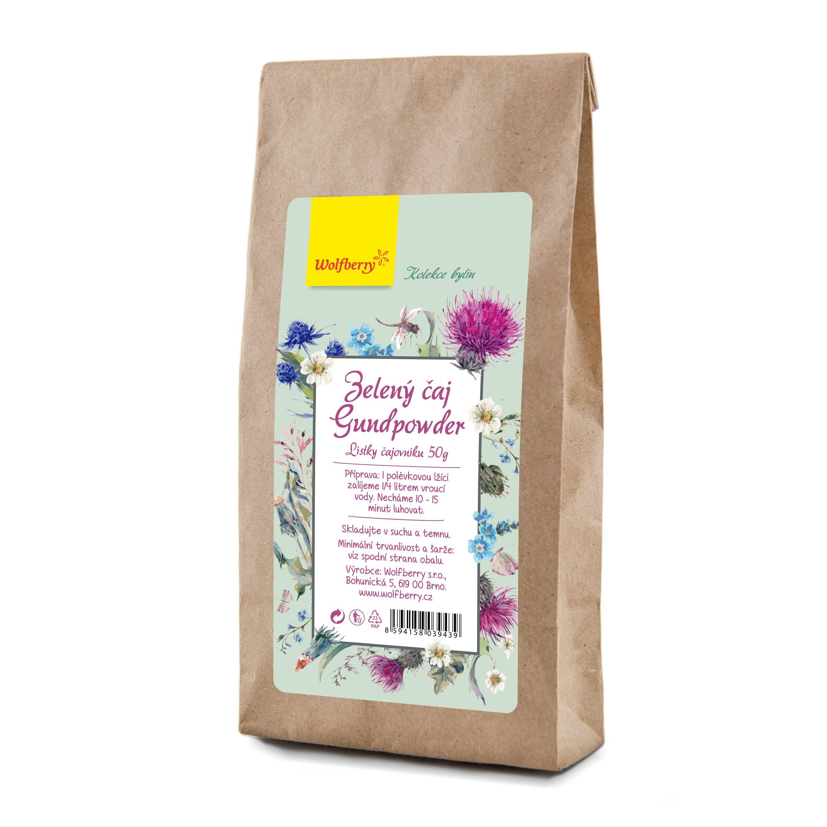 Wolfberry Zelený čaj gundpowder 50 g Wolfberry 50 g